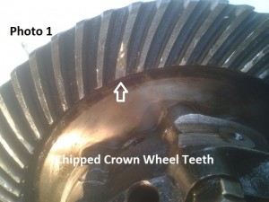 1. crown wheel chipped