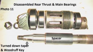 11. Dissassembled rear  bearings