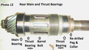 12. Rear thrust bearing  assembly