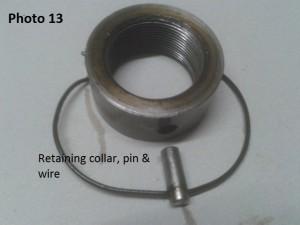 13. retaining collar