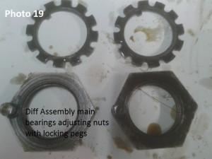19. main bearing nuts pegs