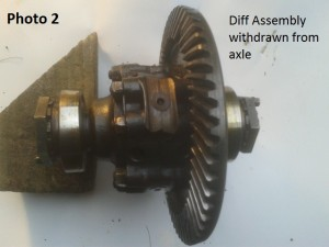 2. Diff assembly withdrawn